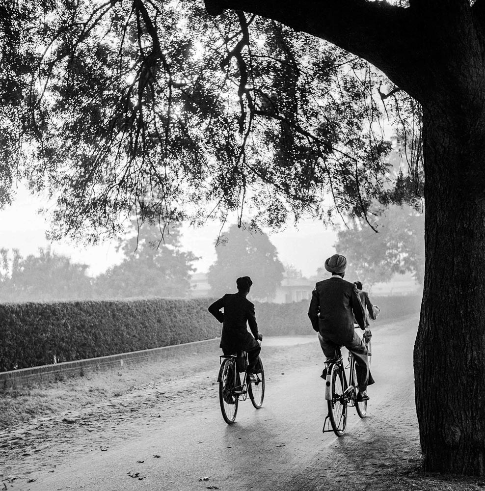 Office-bound cyclists, 1957